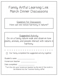 March Dinner Discussions