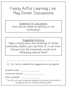 May Dinner Discussions